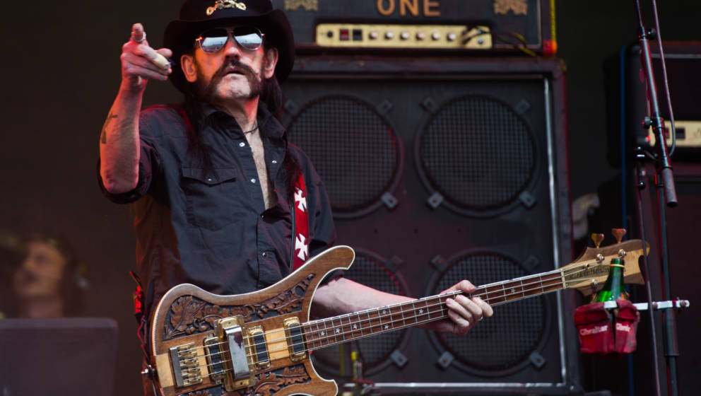 GLASTONBURY, ENGLAND - JUNE 26:  Lemmy Kilmister of Motorhead performs at the Glastonbury Festival at Worthy Farm, Pilton on