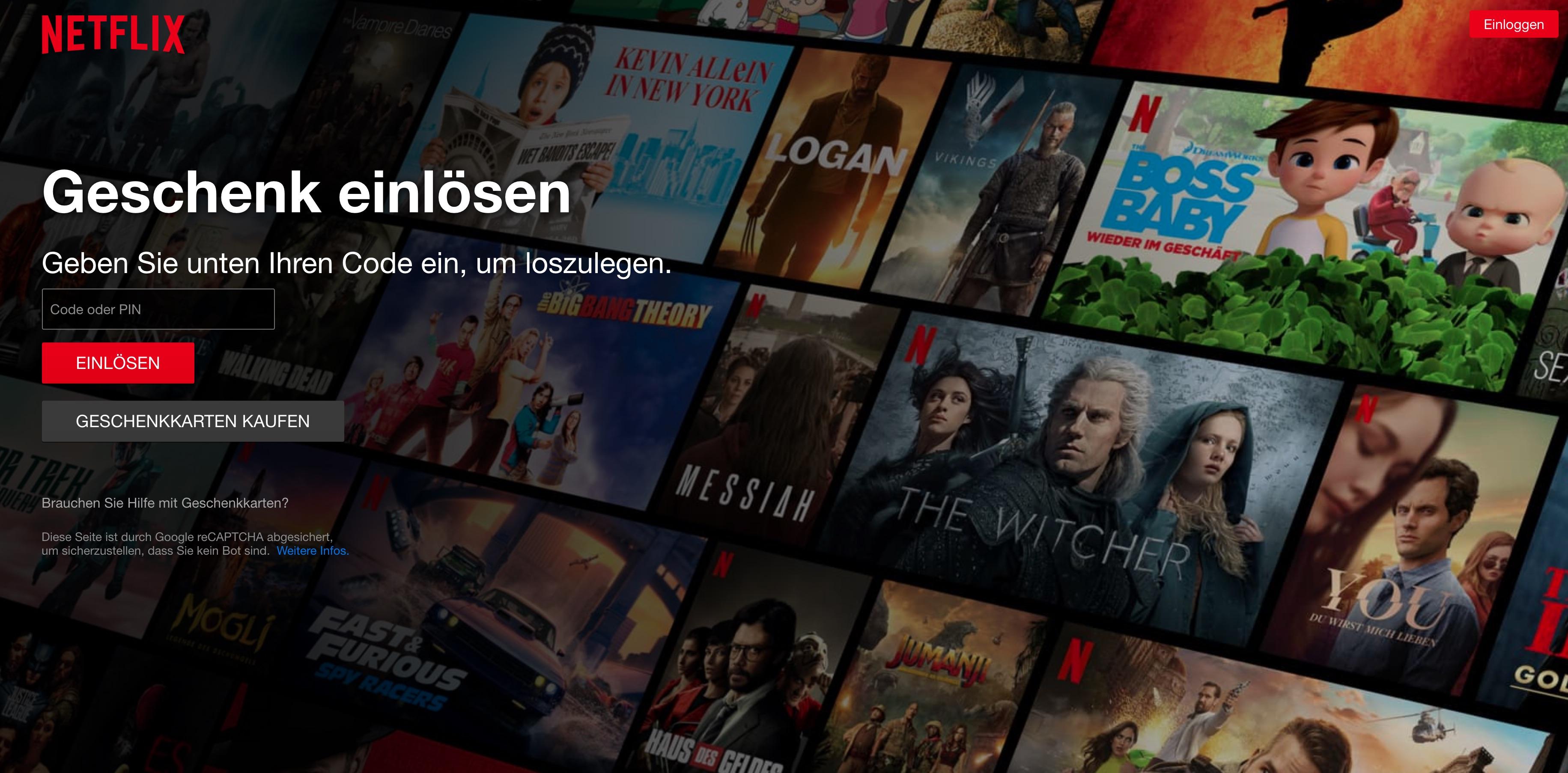 Netflix-Gutschein