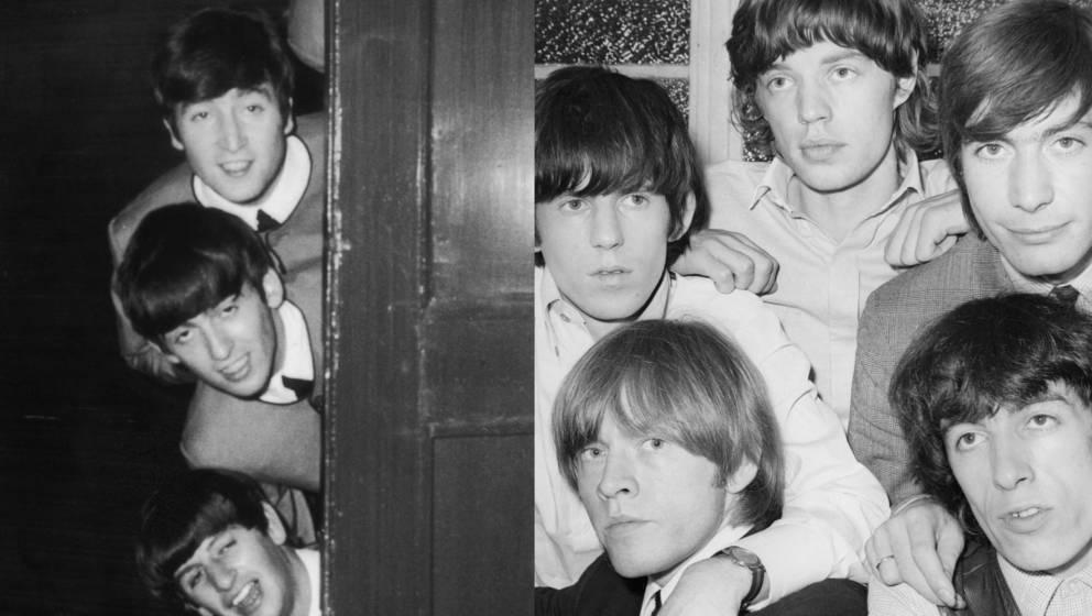 Den Auftritt der Stones wollten sich die Beatles nicht entgehen lassen