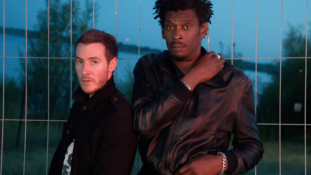 GRAEFENHAINICHEN, GERMANY - JULY 18:  ***EXCLUSVE ACCESS*** British music production duo Massive Attack poses backstage at th