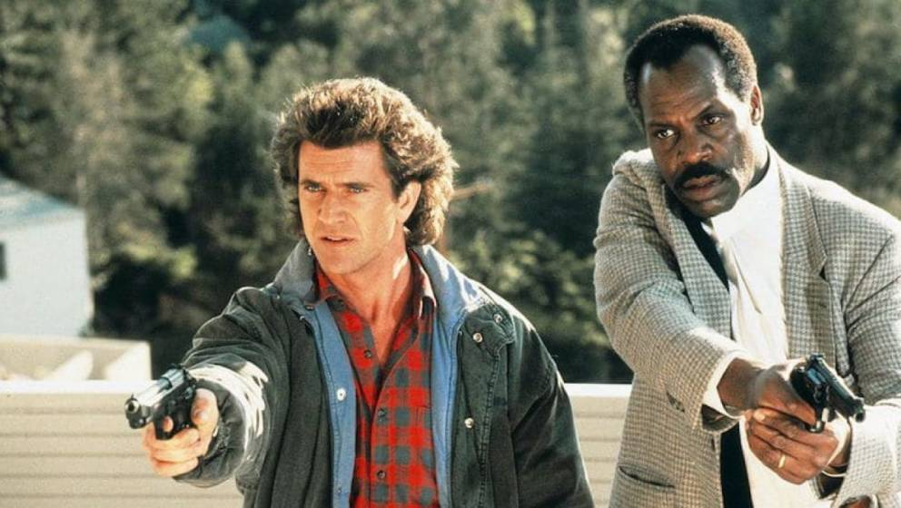 Mel Gibson Danny Glover in Lethal Weapon