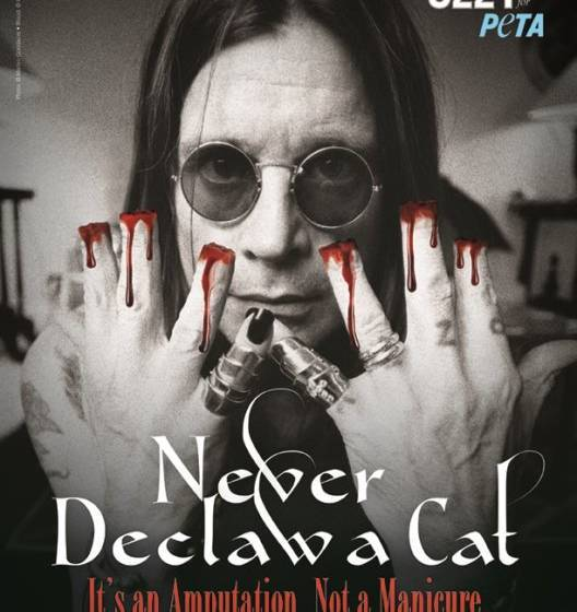 Ozzy Osbourne in einer PETA-Kampagne
