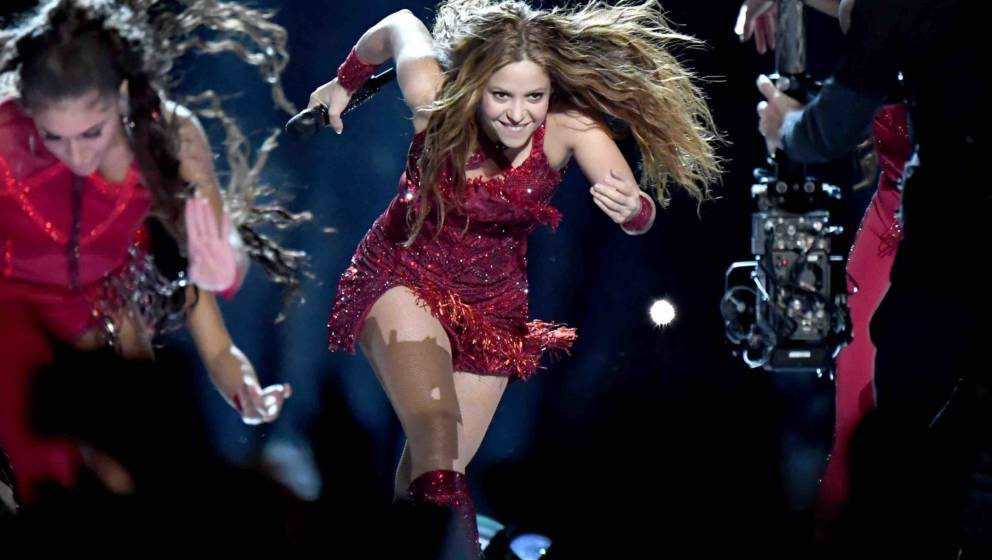 MIAMI, FLORIDA - FEBRUARY 02: Shakira performs onstage during the Pepsi Super Bowl LIV Halftime Show at Hard Rock Stadium on