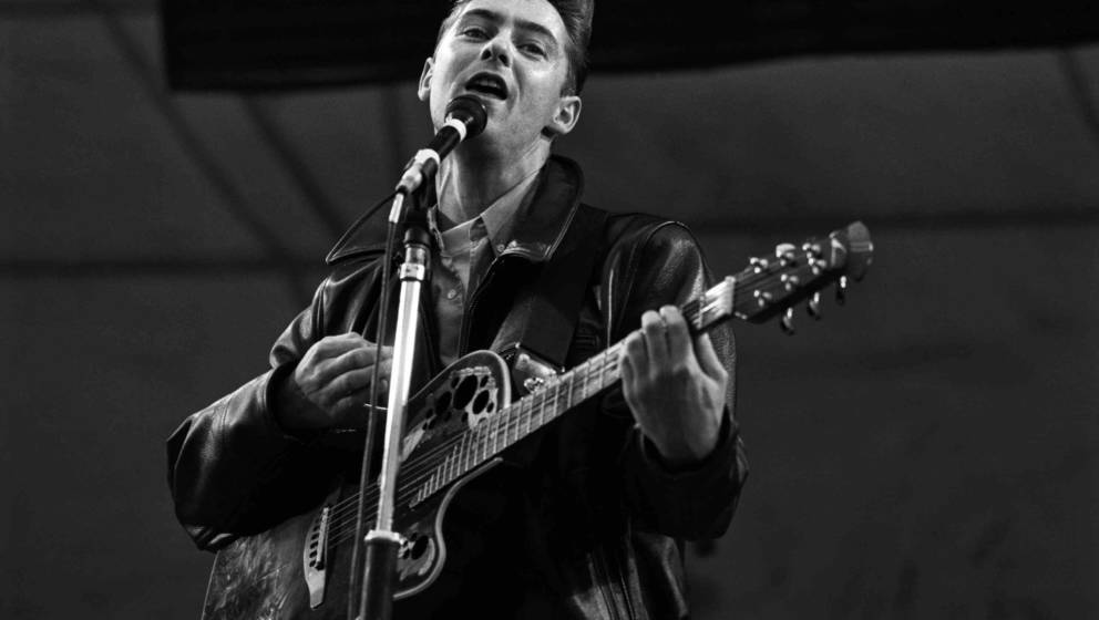 26-6-1989 The Hague, Parkpop Aztec Camera. Leadsinger Roddy Frame. Copyright Paul Bergen
