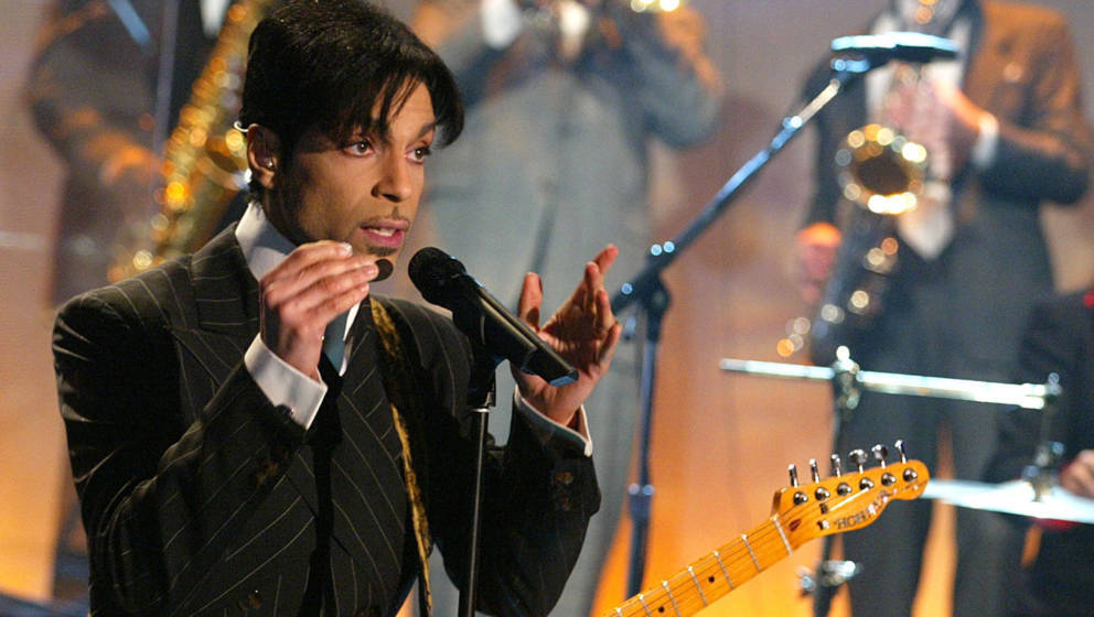 Prince, with Sheila E, at 'The Tonight Show with Jay Leno' at the NBC Studios in Burbank, Ca. Friday, Dec. 13, 2002. Photo by