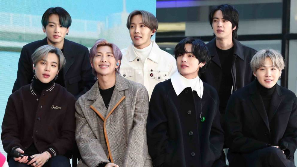 Jimin, Jungkook, RM, J-Hope, V, Jin, und SUGA von der K-Pop-Band BTS