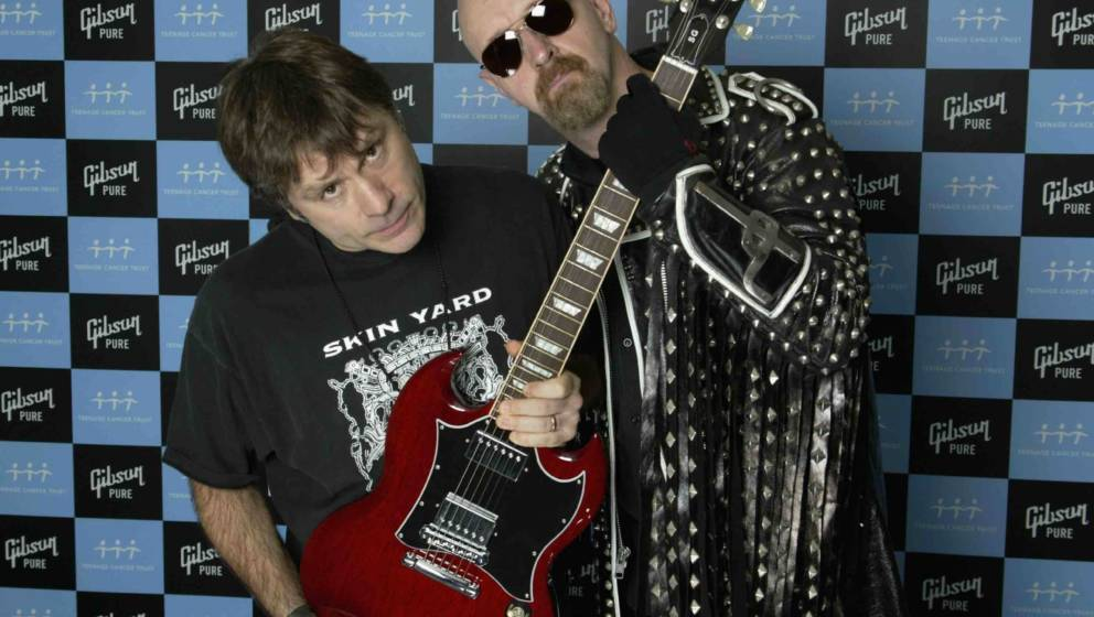 Bruce Dickinson und Rob Halford 2006 in London, England.
