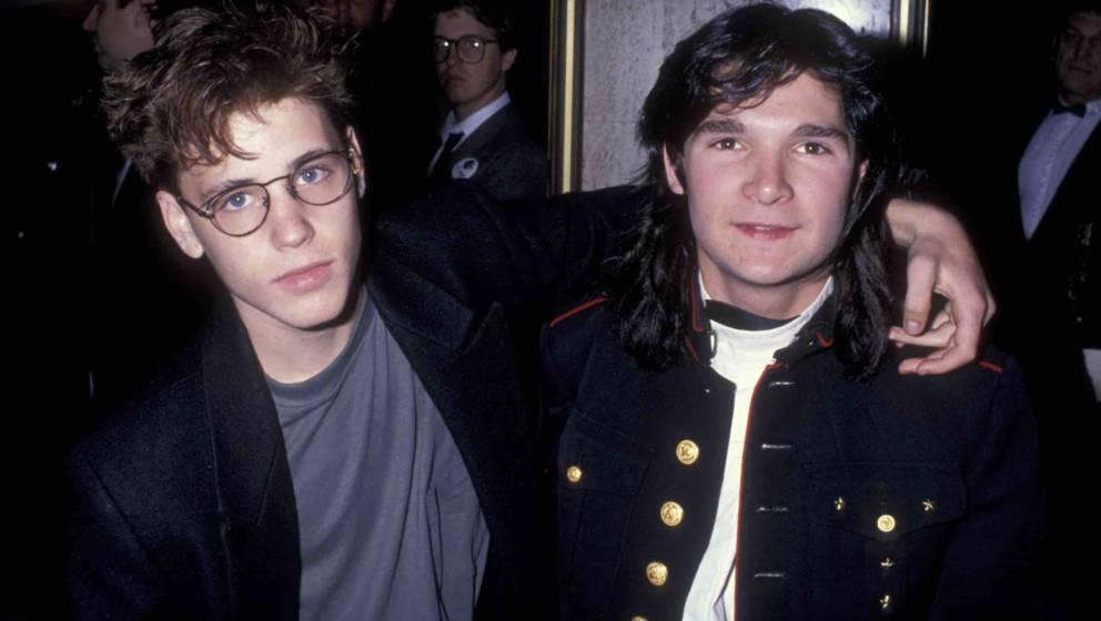 Corey Haim und Corey Feldman 1989