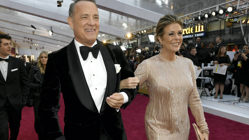Tom Hanks und Ehefrau Rita Wilson bei der 92. Oscar-Verleihung im Februar 2020