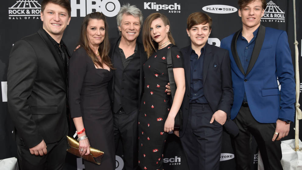 Jon Bon Jovi und Familie bei der Rock & Roll Hall of Fame Zeremonie im April 14, 2018 in Cleveland, Ohio.  (Photo by Kevi