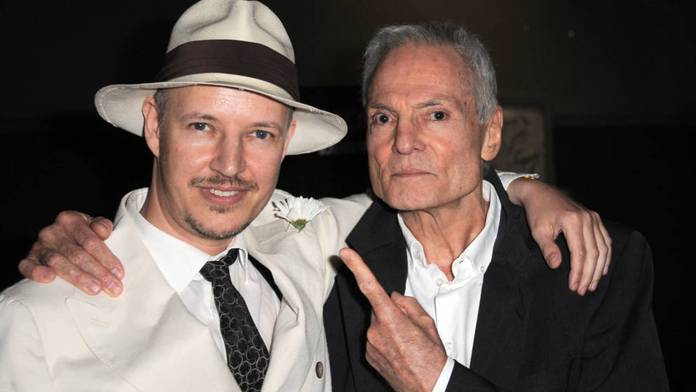 Dieter Laser mit Regisseur Tom Six