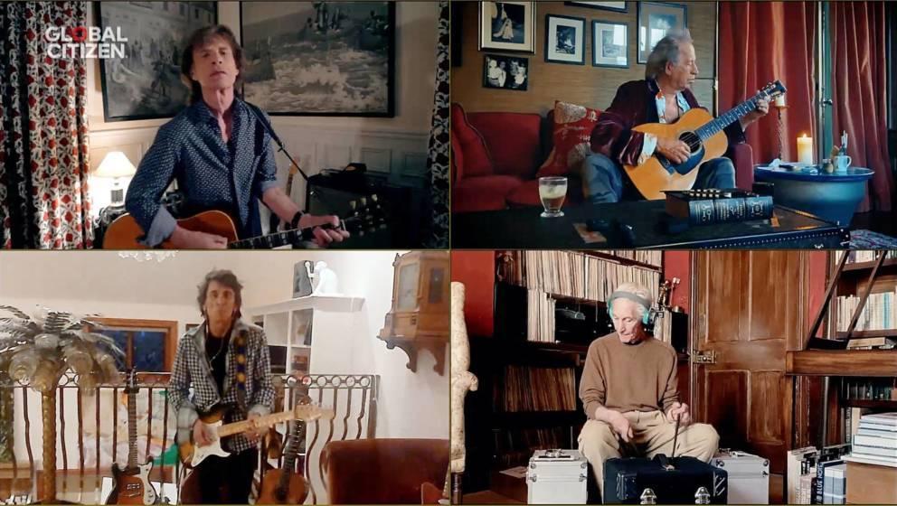 Die Rolling Stones schalteten sich per Splitscreen zu