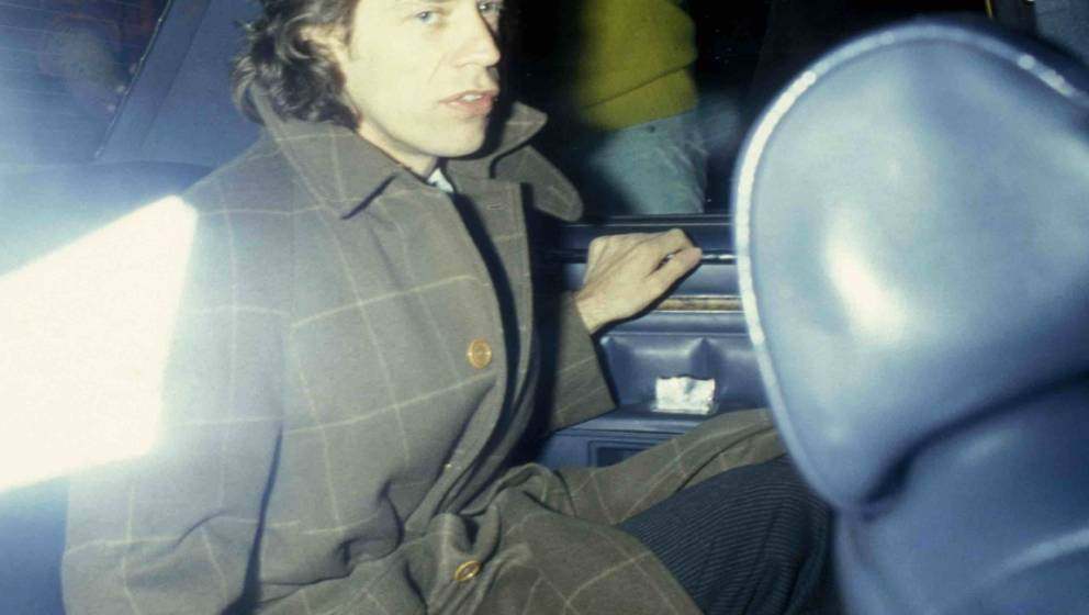 Mick Jagger vor dem Carlyle Hotel in New York City, 1985