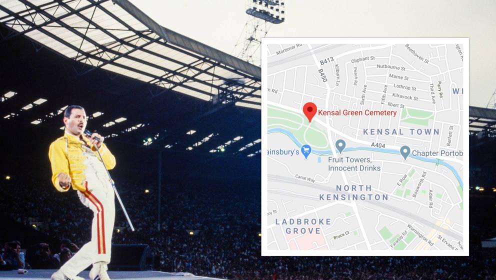Das Grab von Queen-Frontmann Freddie Mercury befindet sich sehr wahrscheinlich auf einem Friedhof in West-London
