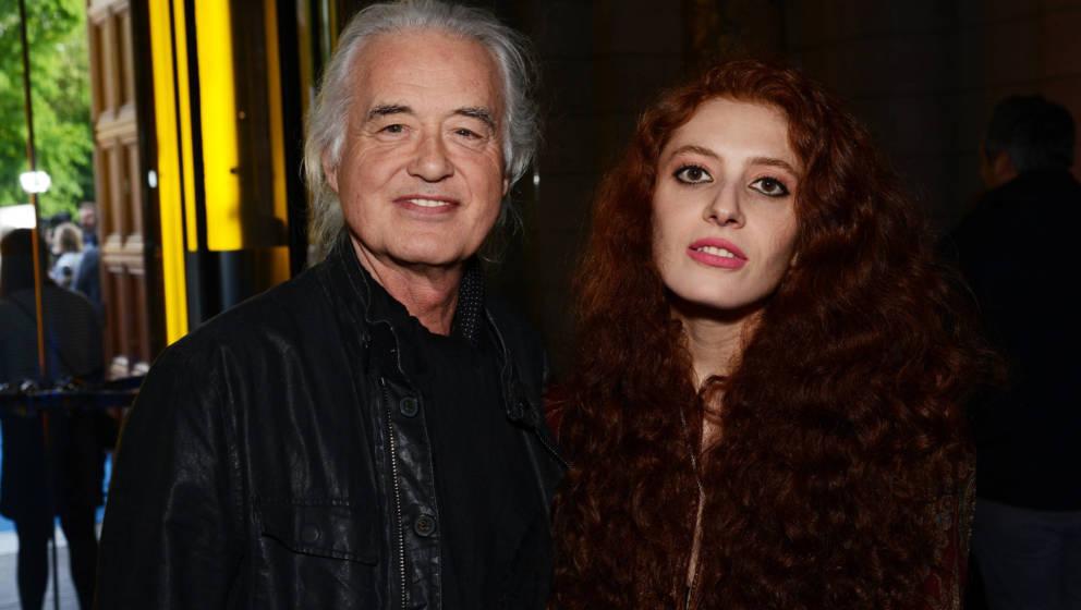 Jimmy Page und Scarlett Sabet