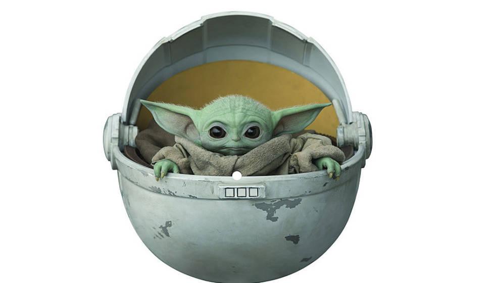 Baby Yoda macht sich gut im Plattenregal