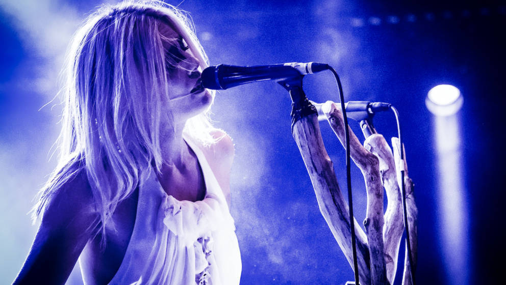 Denmark, Roskilde - July 7, 2018. The Danish one-woman black metal act Myrkur consists of musician and vocalist Amalie Bruun