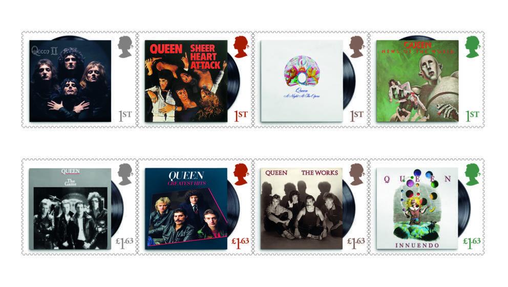 Queen werden auf Briefmarken verewigt