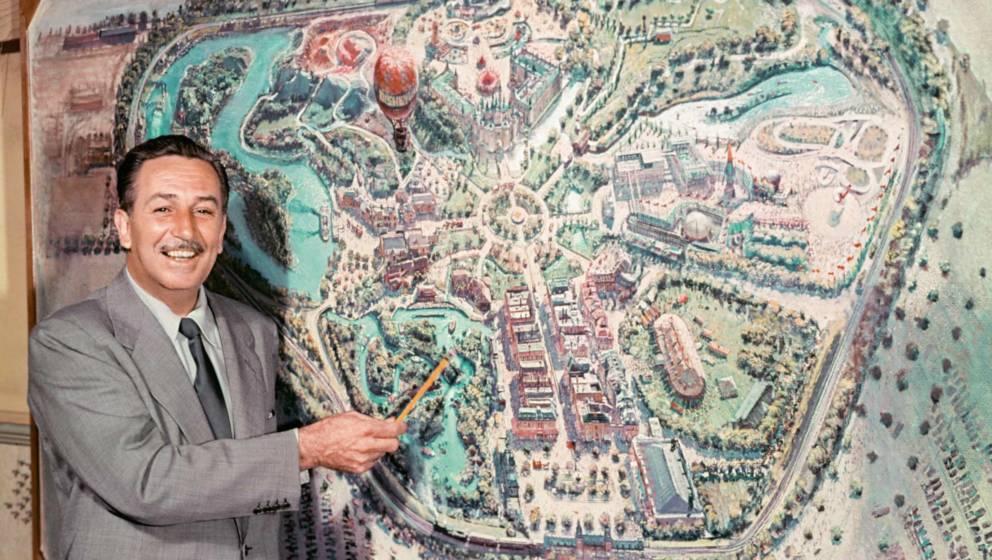 """Walt Disney erklärt sein """"Disneyland"""" in einem TV-Feature 1954"""
