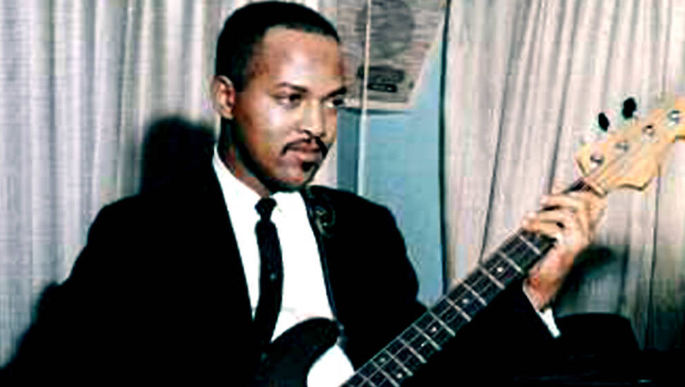 DETROIT - CIRCA 1962:  Bassist James Jamerson of the Motown backing band 'Funk Brothers' rehearses in the studio in circa 196