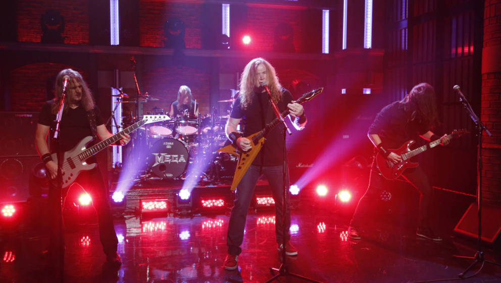 Megadeth 2016 bei der 'Late Night with Seth Meyers'