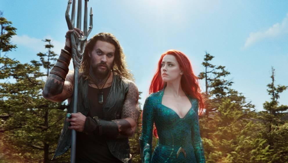 Jason Momoa und Amber Heard in 'Aquaman'. Die Comic-Verfilmung kommt in August zu Netflix.