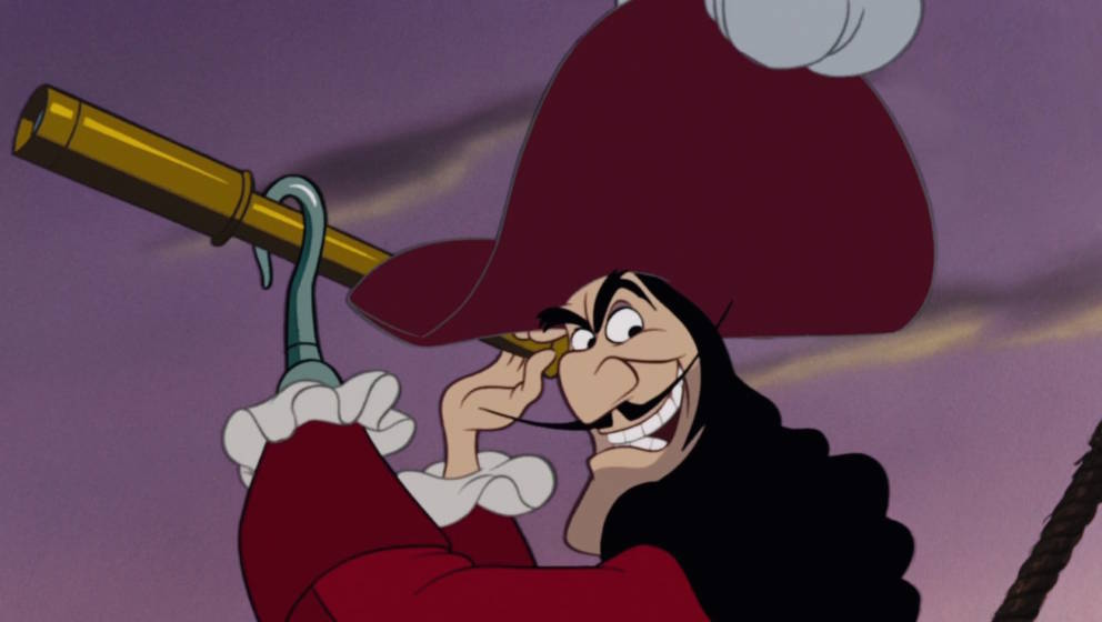 """Lässt gerne jemanden über die Planke laufen: Captain Hook aus """"Peter Pan"""" (1953)"""