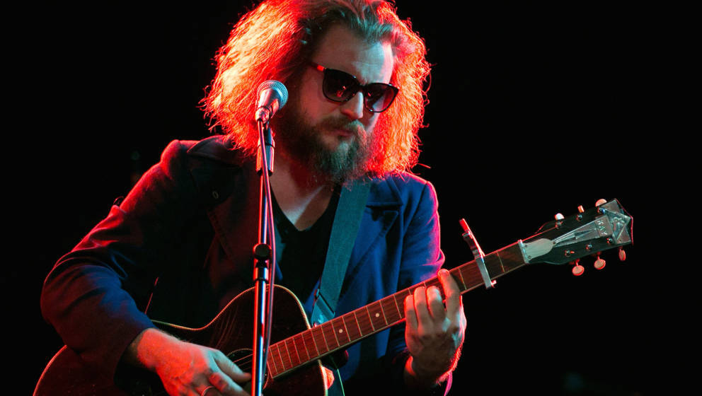 LOS ANGELES, CA - APRIL 14:  Jim James performs at the 8th annual Rock The Night to cure Crohn's and Colitis at Teragram Ball