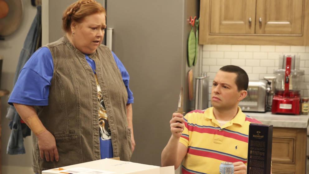 """Conchata Ferrell in ihrer unnachahmlichen Rolle als Haushälterin Berta in """"Two And A Half Men"""""""