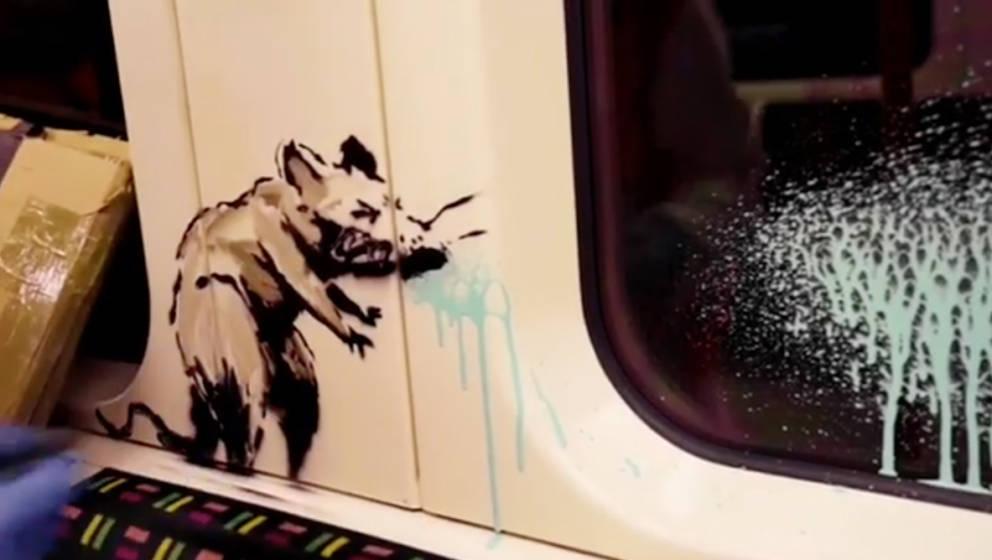 Screenshot von dem Instagram-Video, welches Banksy teilte.