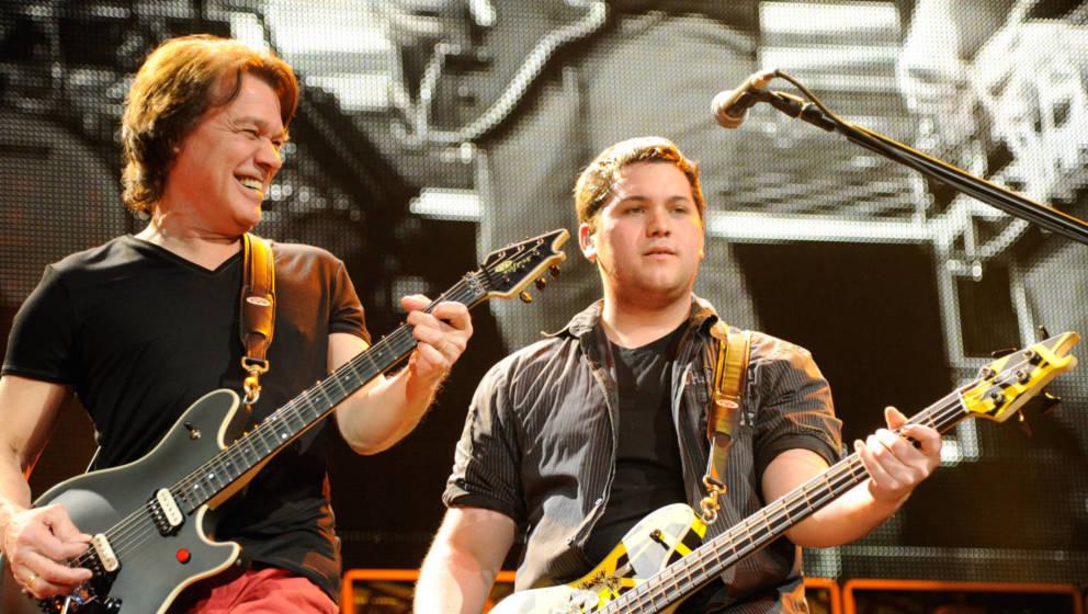 Wolfgang und Eddie Van Halen
