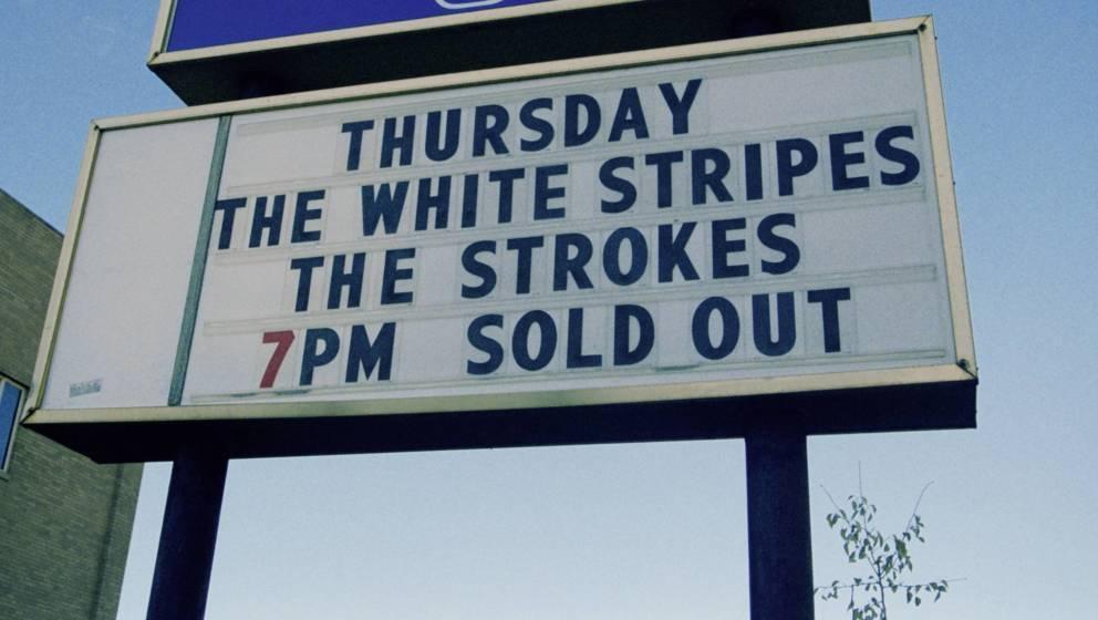 Natürlich ausverkauft: Gemeinsames Konzert von The White Stripes und The Strokes (hier vom ersten Gig in Detroit)