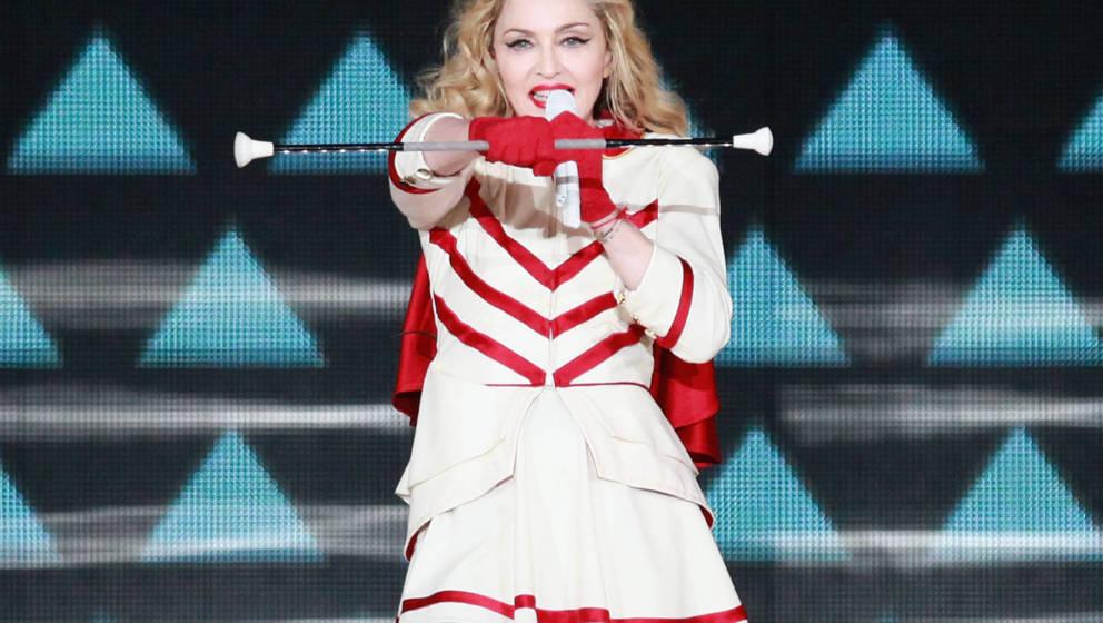 Madonna während ihrer 'MDNA'-Tour im Madison Square Garden im November 2012