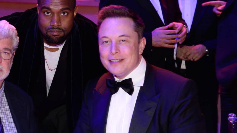 Kanye West und Elon Musk bei der TIME 100 Gala 2015