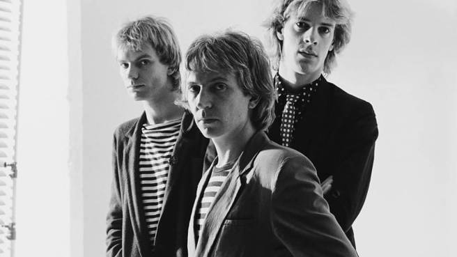 The Polices Sting, Andy Summers und Stewart Copeland hier ca. 1979.