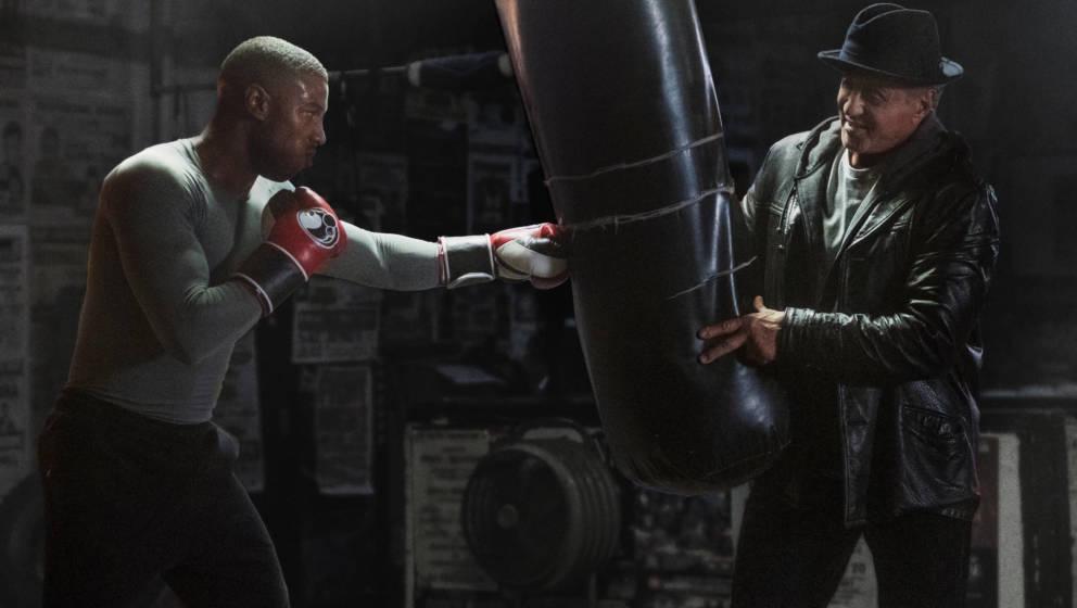 Michael B. Jordan und Sylvester Stallone in 'Creed II'. Auch der erste Teil des 'Rocky'-Spin-Offs wird diesen Monat bei Prime