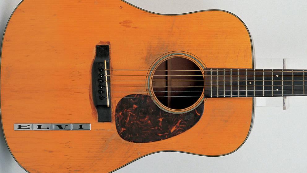 Die Martin D-18 Gitarre von Elvis Presley wurde für schlappe 1.32 Millionen US-Dollar versteigert