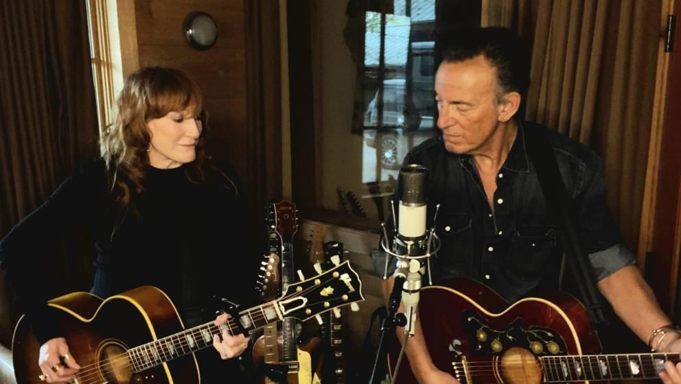 Patti Scialfa und Bruce Springsteen im Studio