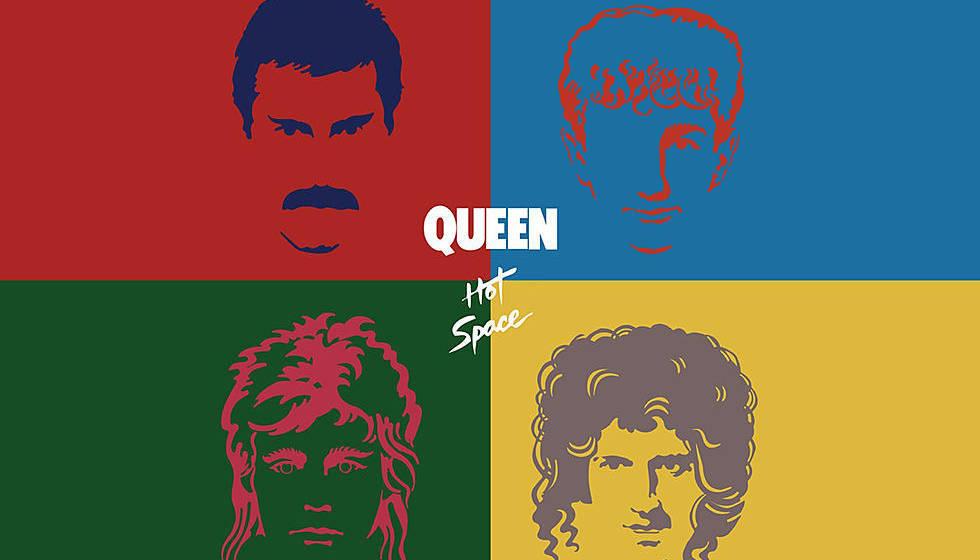 """Das Cover-Artwork zu Queens """"Hot Space"""""""