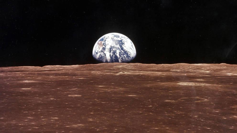Ein Bild der Erde aus Sicht des Mondes.