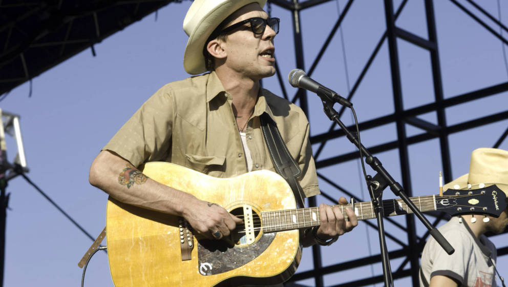 Justin Townes Earle 2008 auf dem Country Music Festival in Chicago.