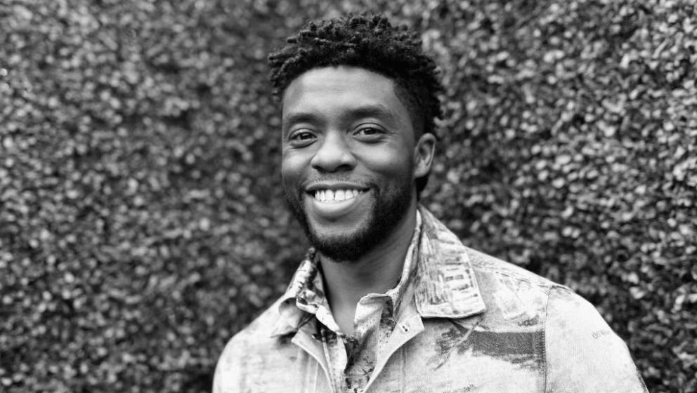 SANTA MONICA, CA - JUNE 16: (EDITORS NOTE: Image has been converted to black and white.)  Actor Chadwick Boseman attends the