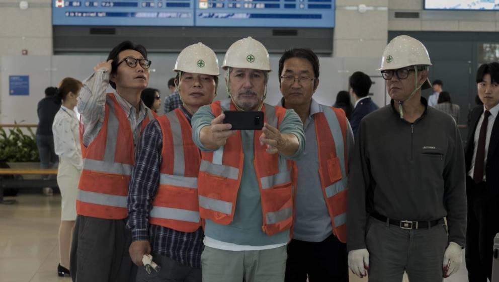 Stéphane am Flughafen von Seoul.