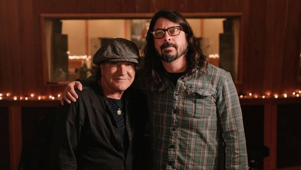 Brian Johnson und Dave Grohl