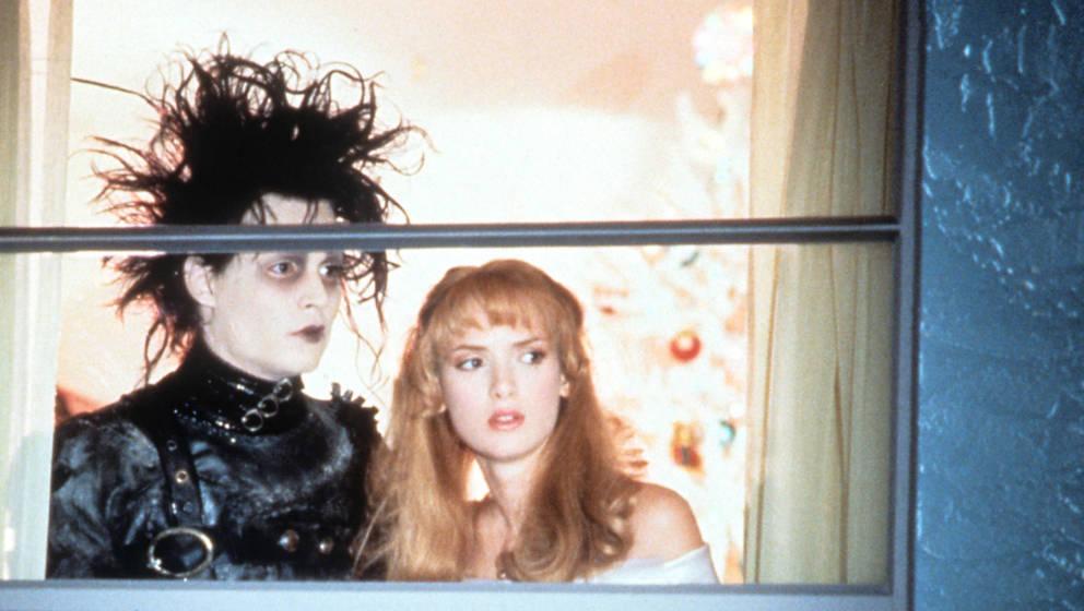 """Johnny Depp und Winona Ryder in """"Edward mit den Scherenhänden"""""""
