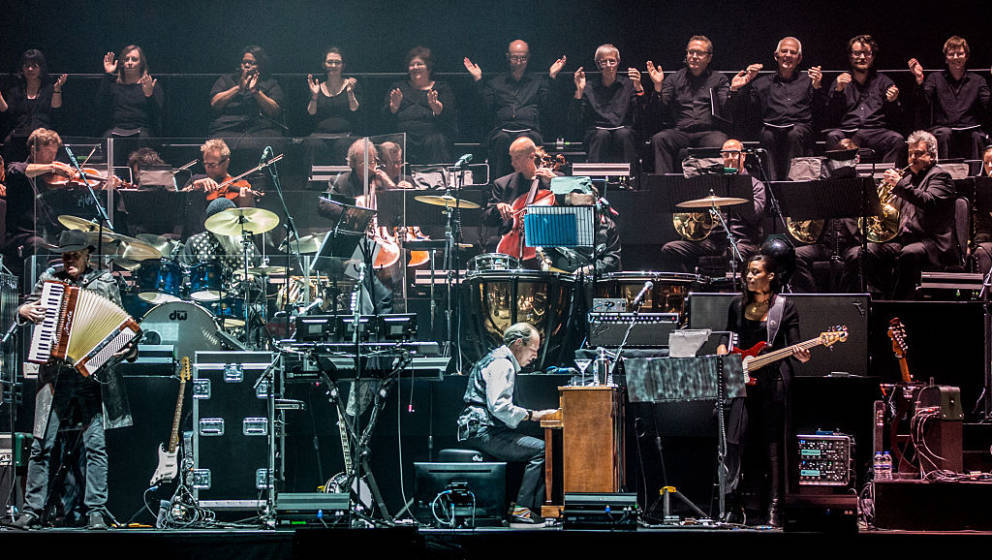 LONDON, ENGLAND - APRIL 06:  Hans Zimmer performs at SSE Arena Wembley on April 5, 2016 in London, England.  (Photo by Rob Ba