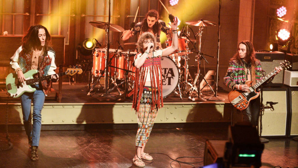 SATURDAY NIGHT LIVE -- 'Rachel Brosnahan' Episode 1756 -- Pictured: (l-r) Musical guest Greta Van Fleet performs on Saturday,