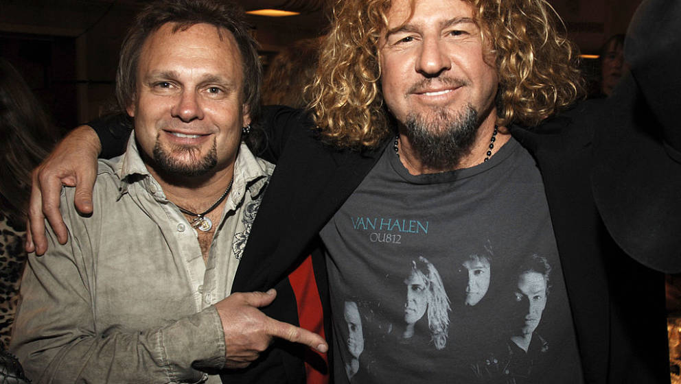Michael Anthony and Sammy Hagar of Van Halen, inductees *EXCLUSIVE* ***Exclusive*** (Photo by Kevin Mazur/WireImage)