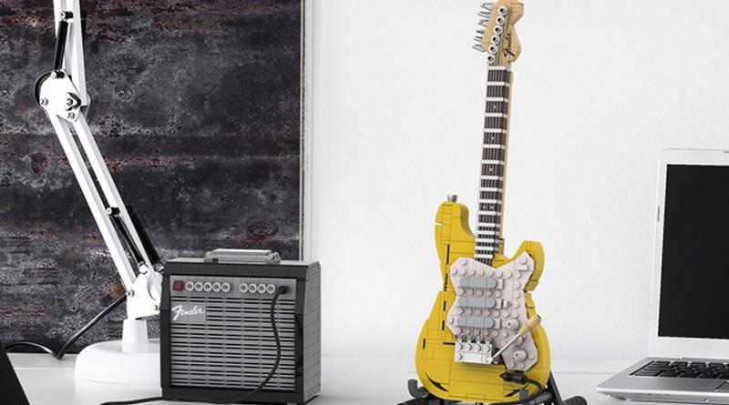 """Das neue """"Fender Stratocaster""""-Bauset dürfte sowohl Musik- als auch LEGO-Freunden gefallen."""