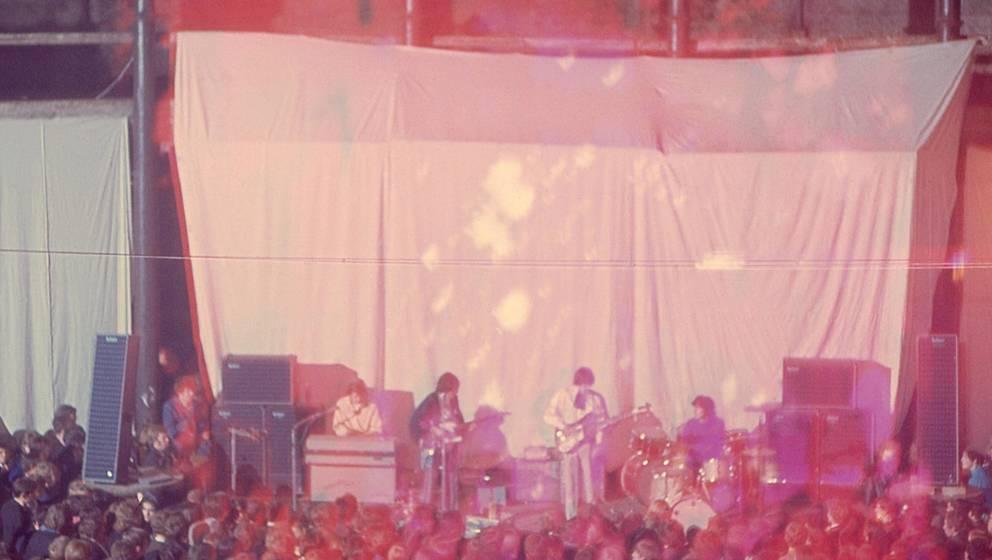 Seltenes Foto vom Gig im Roundhouse 1966